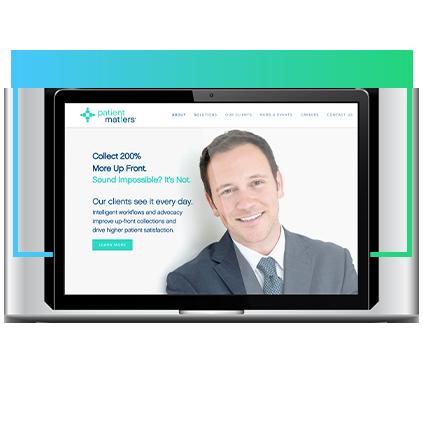 SEO-WebsiteExample-patientmatters-B2B-mockup